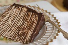 Simply So Good: Dark Chocolate Crepe Cake Step # 3 Chocolate Ganache