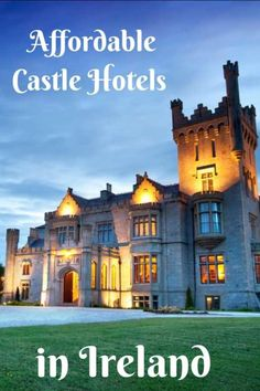 Affordable Castle Hotels in Ireland for a True Fairytale Experience Add some magic to your Irish vacation by staying in one of these affordable castle hotels in Ireland. Castle Hotels In Ireland, Castles In Ireland, Ireland Beach, Ireland Vacation, Scotland Travel, Ireland Travel, Ireland Food, Scotland Trip, Dublin Ireland