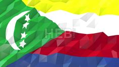 Stock Footage in HD from $19, Flag of Comoros 3D Wallpaper Animation, National Symbol, Seamless Looping bi-directional Footage...,  #3d #abstract #Animation #background #banner #blow #breeze #Comoros #computer #concept #country #design #digital #fashion #flag #fold #footage #generated #glossy #illustration #Loop #low #material #modern #mosaic #motion #Move #nation #National #origami...