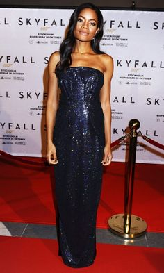Naomie Harris At The Film Premiere of Skyfall In Stockholm, 2012