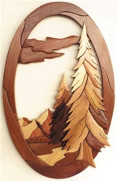 Wood Projects Oval God's Country Intarsia Plan - Cherry Tree Toys can provide you with all the woodworking supplies to complete project from woodworking plans, wood parts, lumber, clock parts and scroll saw plans. Woodworking Supplies, Popular Woodworking, Woodworking Jigs, Woodworking Projects, Youtube Woodworking, Woodworking Classes, Woodworking Blueprints, Woodworking Furniture Plans, Woodworking Equipment