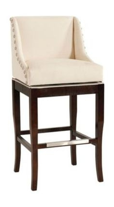 Marcello Barstool With Pewter Nailhead Trim Contemporary Bar Stools And Counter Ballard Designs