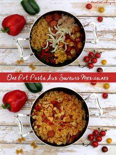 One pot pasta mexicain Amandine Cooking - One pot rezepte Healthy One Pot Meals, Easy One Pot Meals, 1200 Calorie Diet, 1200 Calories, Batch Cooking, Easy Cooking, Camping Cooking, Cooking Ideas, Pasta Tomate