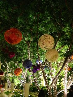 Fabulous flower balls in the Wynn