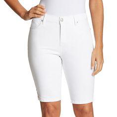 Bermuda Shorts Women, Gloria Vanderbilt, Denim Cotton, Denim Fabric, Jean Shorts, Women's Shorts, New Look, Clothes For Women, Jeans