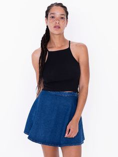 American Apparel Denim Circle Skirt Found on my new favorite app Dote  Shopping #DoteApp #