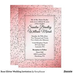 Rose Glitter Wedding