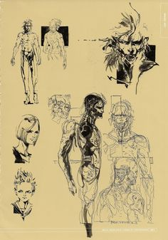 Metal Gear Solid 4 Yoji Shinkawa concept art