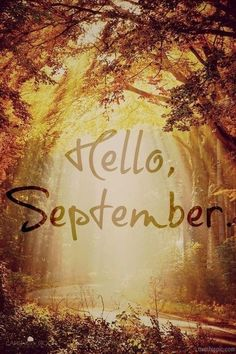 Hello September and good morning peeps! Have an awesome September starting from today ya'll! Seasons Of The Year, Best Seasons, Months In A Year, 12 Months, Summer Months, Mabon, Autumn Day, Autumn Leaves, Hello Autumn