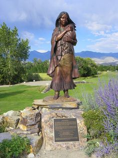 Monument to Sacagawea. $695WK ~ Stay at Hummingbird Ranch Vacation House in Southeastern Arizona. 3 Ghost Towns, 2 National Parks and tons of rick Apache history of Cochise & Geronimo. https://www.youtube.com/watch?v=JzhJrLOopIs520-265-3079