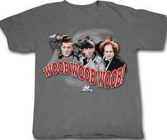 0ac16ce2 Three Stooges T-shirt Funny Woob Woob Woob Adult Grey Tee Shirt Three  Stooges T