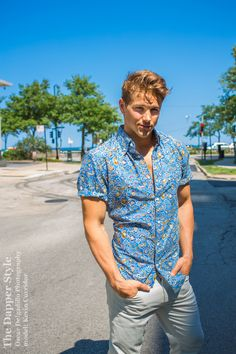 model Kevin Curridor shows a print style