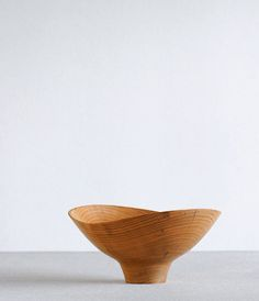 Wood-turner and furniture maker Shoji Morinaga takes his inspiration for his bowls from some modern woodturning masters. Most of his bowls are made of lightweight woods including Yamazakura ( cherry) and Ho no ki. Morinaga who has a background in industrial design, also runs a furniture service and shop in Japan.