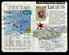 Moleskin travel journal page by Kathrin Jebsen-Marwedel flickr