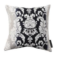 Camelia Damask Raven Square Cushion