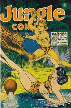 JUNGLE COMICS , with cover art by Joseph Doolin