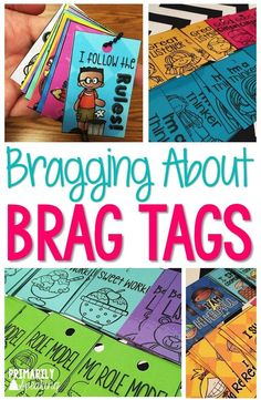 Brag tags are a great way to recognize student effort, behavior, and accomplishments. FREEBIE in post! :)