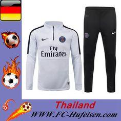 Offizielle Neueste Trainingsanzüge Fussball Herren Kits Saint Germain Weiß Seson 2015 2016 Billig Großhandel