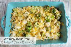 "Easy, yummy, low carb chicken divan casserole. Gluten-free! Trim Healthy Mama ""S"" dinner."