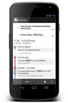 Google Transit est désormais disponible à Paris (en plus de quelques autres villes en France). Vous pouvez préparer vos itinéraires en transports en commun. Ici sur mobile (Android pour l'instant)