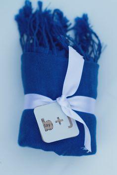Blue Pashmina Wedding Favor