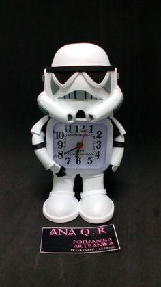 Despertador goma eva ,star wars fofuanika