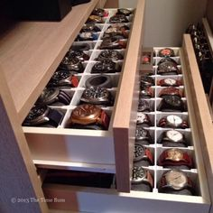 My dad would love this!!! Watch Drawer DIY. See the full illustrated how-to on www.thetimebum.com