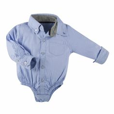Andy and Evan blue oxford shirtzie