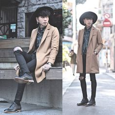 Opustwo Oxford Shoes, Topman Ripped Skinny Jeans, Levi's® Vintage Jacket, Fred Perry Polo Shirt, Tastemaker 達新美 Hat