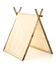 Tan Burlap Play Tent