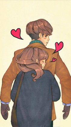 Of the internet art love couple, love cartoon couple, sweet couple, cou Love Cartoon Couple, Cute Love Cartoons, Cute Love Couple, Anime Love Couple, Cute Cartoon, Couple Illustration, Character Illustration, Couple Amour Anime, Evvi Art