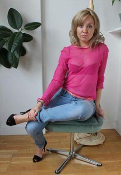 Handmade Sheer Pink Long Sleeved Top