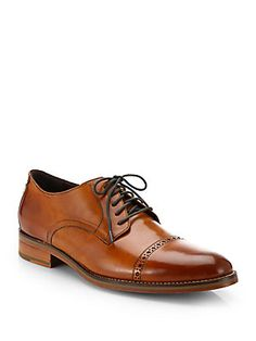 Cole Haan Preston Cap-Toe Lace-Up Shoes