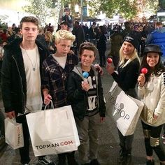 Carson Lueders shopping with friends