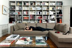 love the bookshelf and the sectional