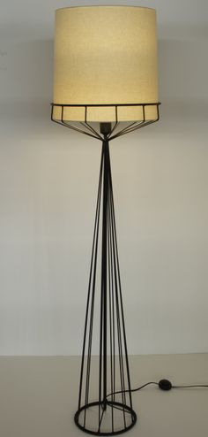 Tony Paul; Painted Steel Floor Lamp, 1950s.
