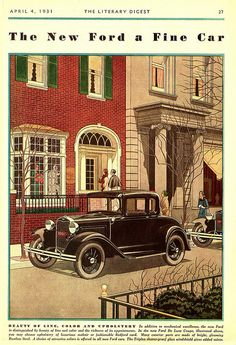 The Literary Digest Magazine, April 4, 1931 Ford Coupe Ad by Boats-n-Cars, via Flickr