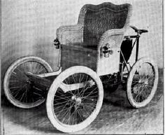 """1898 Pittsburg Runabout Wicker Body Pittsburg Motor Vehicle Co. Pittsburg, PA 1897-1899  So I look at this and think, """"Hey, honey, our sofa is so comfy, let's put it on wheels."""""""