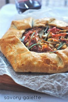 Savory Galette: Proscuitto, Caramelised Onions, Pears & Blue Cheese via Bev Cooks