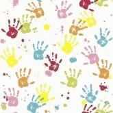 Kids Club Hand Print Wallpaper by Rasch 232103