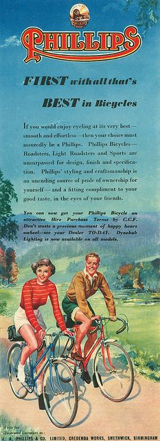 Phillips Bicycles ad 1951