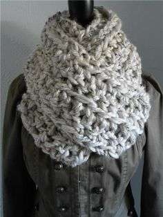 Infinity Scarf Cowl – Super Thick, Soft & Chunky – Double Bulky Yarn for Sale