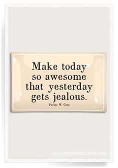 Make Today So Awesome Decoupage Glass Tray