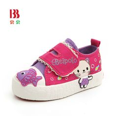 2017 Baby Casual Toddler Trainers Shoes Canvas Kids Sneakers Cartoon Shoes Boys Girls Soft Walker Sneakers 6123