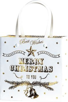 Gift Bags 18x8x18cm Belle Gold 10 piece(s) [2543704780] : Giftwrap UK, Quality…