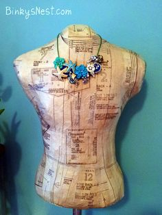 Create Your Own Vintage Inspired Dress Form - DIY