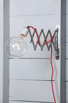 Scissor Wall Lamp - Industrial Wall Light - Bare Bulb - Industrial Light Electric - 1