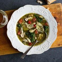 Pesto Chicken, Healthy Chicken, Healthy Soup, Fiber Rich Vegetables, Diabetic Living Magazine, Fish Chowder, Healthy Blood Pressure, Wild Rice Soup, Lentil Stew