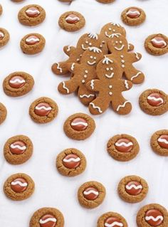 cute gingerbread thumbprint cookies from a cookie mix the bearfoot baker easy cookie recipes