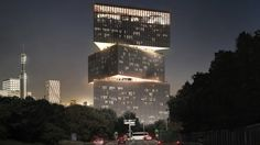 Image 1 of 3 from gallery of OMA Unveils Nhow Hotel Rai Project in Amsterdam. Photograph by OMA via NLTimes Amsterdam Skyline, Amsterdam City, Amsterdam Travel, Amsterdam Netherlands, Hotel Design Architecture, Contemporary Architecture, Contemporary Design, Modern Design, Monuments